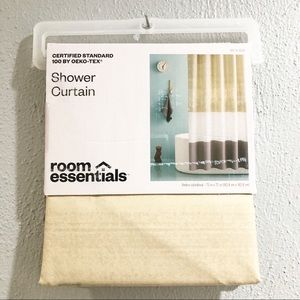 Room Essentials Ombré Colorblock Shower Curtain